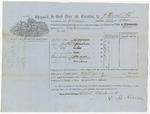 Blue Hill Shipping Receipt: Alma Odlin, October 1861