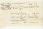 Blue Hill Shipping Receipt: Astoriah, September 1860