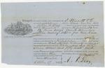 Blue Hill Shipping Receipt: Clara Norton, October 1862