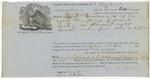 Brooksville Shipping Receipt: Frances Coffin, 1862
