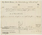 Blue Hill Shipping Voucher: Francis Coffin, 1862