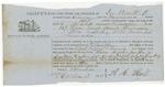Blue Hill Shipping Receipt: Franconia, 1863