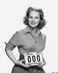 License plate 1950, Virginia Mayo by Maine Bureau of Motor Vehicles