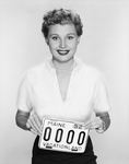 License plate 1952, Mari Aldon by Maine Bureau of Motor Vehicles