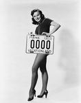 License plate 1954, Lucy McAleer by Maine Bureau of Motor Vehicles