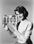 License plate 1955, Pat Blake by Maine Bureau of Motor Vehicles