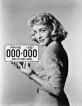 License plate 1956, Lori Nelson by Maine Bureau of Motor Vehicles