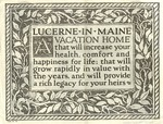 Lucerne-In-Maine A Vacation Home ...1926