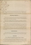 Report to Grand Lodge on Coffin's Resolutions to Appropriate Out of Funds Toward the Distribution of the Holy Bible 1820
