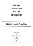 Brewer, Orrington, Holden, Eddington : History and Families by Mildred N. Thayer and Agnes H. Ames