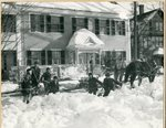 Horse Drawn Snow Removal, South Main Street, Brewer, Maine