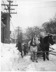 Horse Drawn Snow Removal, North Main Street, Brewer, Maine by J.Craig Thayer Photography