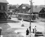 Trolley at Wilson and Main Street, Brewer, Maine - Hazen Danforth, Sr. at Pump by J.Craig Thayer Photography