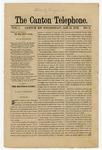 The Canton Telephone: Vol. 1, No. 5 - January 15, 1879