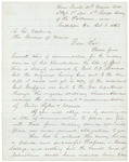Letter from Charles Gilmore to Governor re: Chamberlain Promotion, October 8, 1863 by Charles Gilmore and Abner Coburn