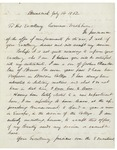 Joshua L. Chamberlain's Application for Commission, July 14, 1862