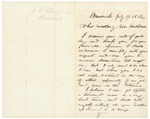Letter from Chamberlain to Gov. Washburn, July 17, 1862 by Joshua Lawrence Chamberlain and Israel Washburn Jr.