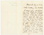 1862-07-17  Joshua Chamberlain acknowledges Governor Washburn's letter