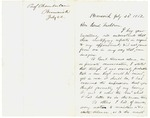 Letter from Joshua Chamberlain to Gov. Washburn, July 22, 1862