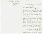 1862-07-22 Joshua Chamberlain writes to Governor Washburn by Joshua Lawrence Chamberlain