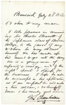 Letter of Recommendation from Chamberlain for Charles Bennett, July 23, 1862