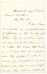 1862-08-08 Chamberlain writes to Governor Washburn regarding faculty opposition to his commission by Joshua Lawrence Chamberlain