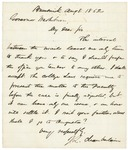 Letter from Joshua Chamberlain to Gov. Washburn, August 8, 1862
