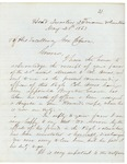 Letter from Joshua Chamberlain to Gov. Coburn, May 25, 1863