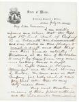 1862-07-21 Josiah Drummond to Governor Washburn by Josiah Hayden Drummond
