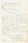 1863-07-29  Colonel Joshua L. Chamberlain writes regarding Verano Bryant and deaths of Billings and Estes