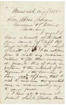 Letter from Chamberlain to Governor Coburn, August 7, 1863 by Joshua Lawrence Chamberlain and Abner Coburn
