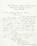 Letter from Chamberlain Regarding Adelbert Twitchell, August 31, 1863