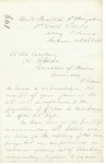 Chamberlain Letter Regarding Nichols Promotion, October 28, 1863 by Joshua Lawrence Chamberlain and Abner Coburn