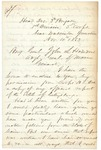 Chamberlain Cover Letter to John Hodsdon Regarding Gettysburg Report, November 4, 1863 by Joshua Lawrence Chamberlain