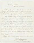 1864-11-10  Chamberlain recommends Lt. James Nichols for a Cavalry commission