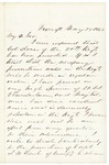 Letter from John H. Rice to Gov. Coburn, May 28, 1863 by John H. Rice and Abner Coburn