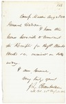 Letter from Chamberlain to Gen. Hodsdon RE: Receipt of Blankets & Books, August 25, 1862