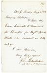 1862-08-25 Chamberlain writes to General Hodsdon regarding receipt of blankets and books by Joshua Lawrence Chamberlain