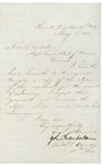 1863-05-18  Chamberlain writes to John Hodsdon regarding monthly returns