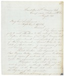 Chamberlain Letter re Mattson Sanborn, May 21, 1863 by Joshua Lawrence Chamberlain
