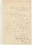 1863-05-26 Chamberlain writes to Adjutant General Hodsdon and Brigadier General Thomas regarding Lt. Sanborn by Joshua Lawrence Chamberlain