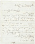 Adelbert Ames to Gov. Coburn Re: Hospital Steward Baker, May 24, 1863