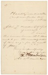 Chamberlain Letter to John Hodsdon, Monthly Return, July 17, 1863