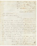 Charles Gilmore to Hodsdon RE Surgeon John Benson, September 3, 1863