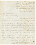Charles Gilmore to Hodsdon RE Surgeon John Benson, September 3, 1863 by Charles D. Gilmore and John L. Hodsdon
