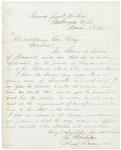 Chamberlain Recommends Thomas Given, March 15, 1864 by Joshua Lawrence Chamberlain and Samuel Cony