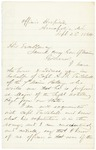 Chamberlain to Gov. Cony re A.B. Twitchell September 22, 1864 by Joshua Lawrence Chamberlain and Samuel Cony