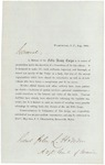 Chamberlain Letter to John Hodsdon Regarding History of 5th Army Corps, 1865 by Joshua Lawrence Chamberlain and John L. Hodsdon