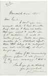 Chamberlain letter to General RE History, December 1865