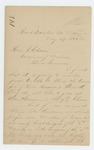 Letter from Joshua Chamberlain to Governor Abner Coburn Regarding Dr. Martin, May 27, 1863